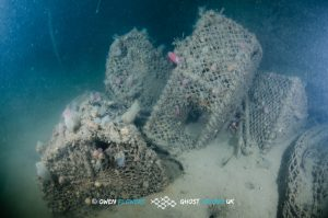 Lost creels on the Madame Alice wreck